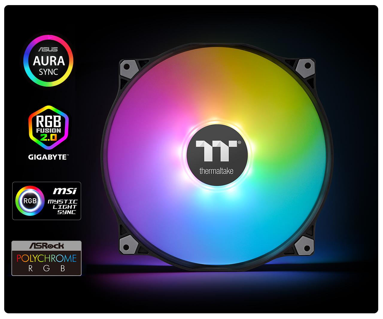 Pure 20 ARGB Sync Case Fan TT Premium Edition (1-Fan Pack)