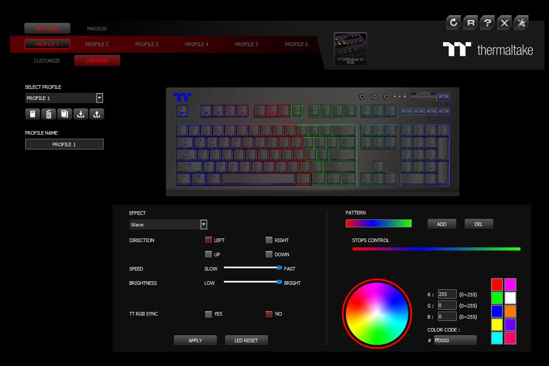 TT Premium X1 RGB Cherry MX Blue Keyboard